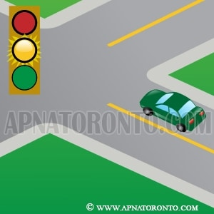signal light changes from green to amber