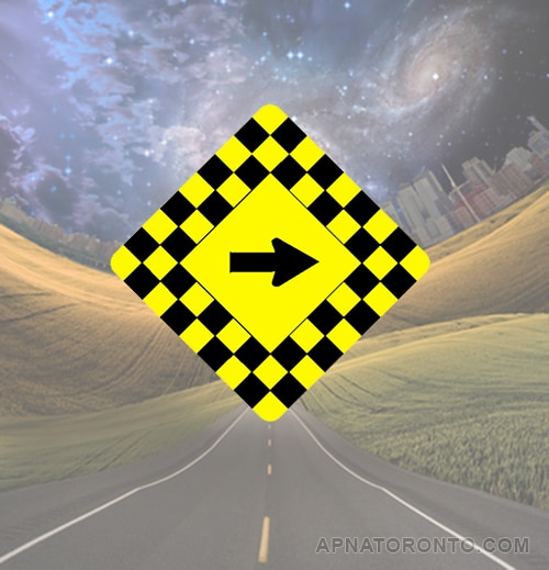 Sharp turn or bend in the road