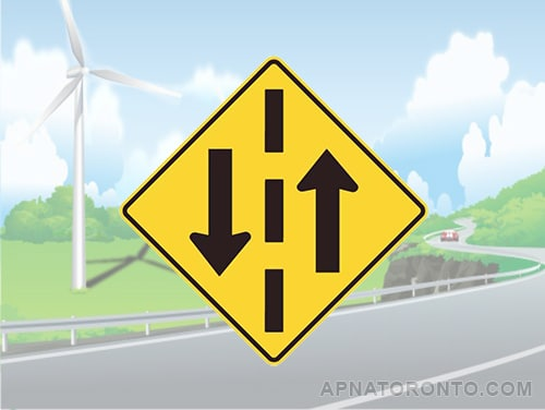 Share the road with oncoming traffic